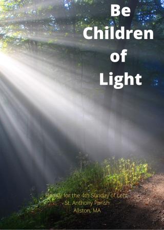Be Children of Light